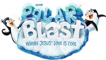 Polar Blast logo with two penguins